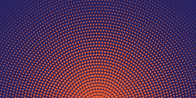 Okrągłe tło półtonów