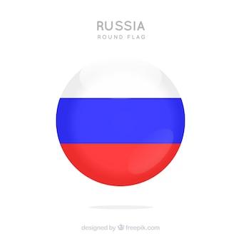 Okrągłe tło rosyjską flagę