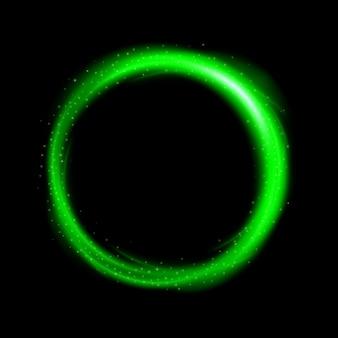 Okrągłe zielone światło skręcone