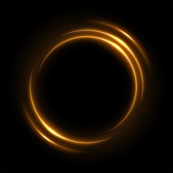 Okrągłe żółte światło skręcone