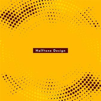 Okrągłe żółte tło półtonów