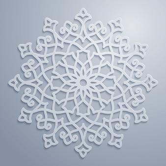 Okrągły arabski ozdobny wzór