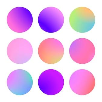 Okrągły gradient zestaw z nowoczesnym abstrakcją