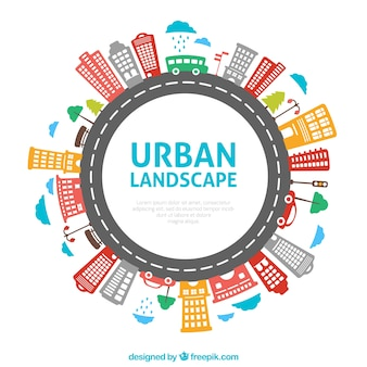 Okrągły krajobrazu miejskiego