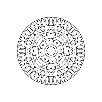 Okrągły mandali wektor liniowy design