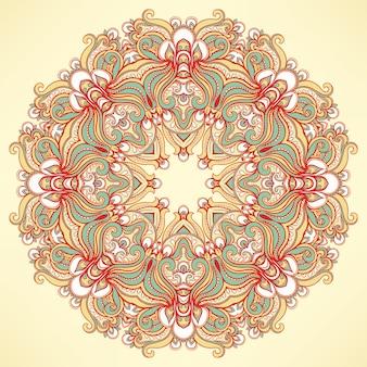 Okrągły naturalny wzór pomarańczowy