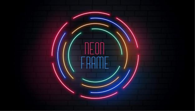 Okrągły neon okrągłe kolorowe tło