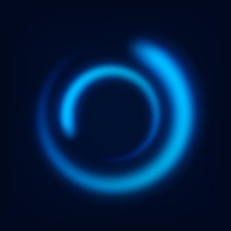 Okrągły niebieski błyszczący szlak