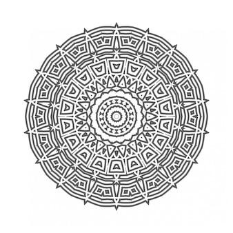 Okrągły ornament geometryczny w stylu mandali
