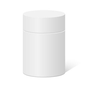 Okrągły pojemnik z tworzywa sztucznego