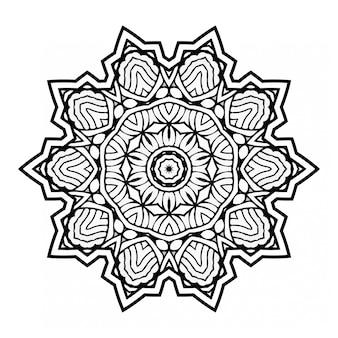 Okrągły streszczenie ornament w stylu mandali