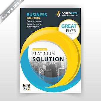 Okrągły szablon broszury korporacyjnej