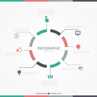 Okrągły szablon infografika