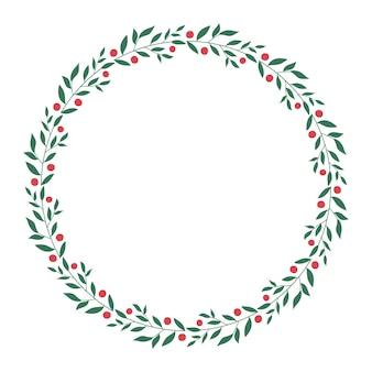 Okrągły wieniec kwiatowy na białym tle projekt zaproszeń
