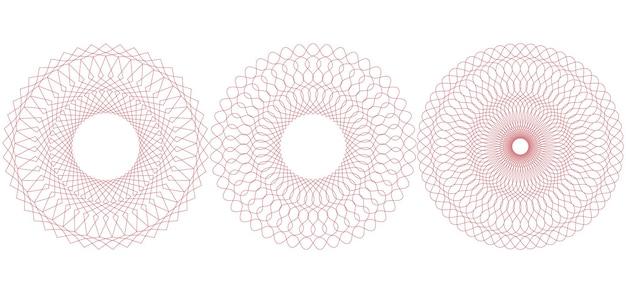 Okrągły wzór giloszowy. ilustracja wektorowa.