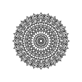 Okrągły wzór w formie ilustracji projektu mandali