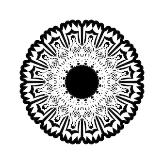 Okrągły wzór w formie mandali do henny, mehndi, tatuażu, dekoracji. dekoracyjny ornament w etnicznym stylu orientalnym. książka do kolorowania.