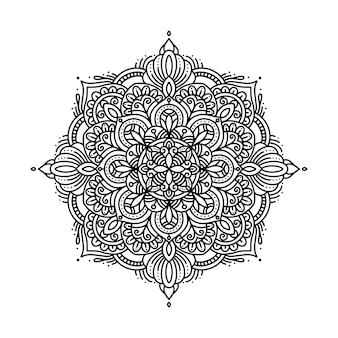 Okrągły wzór w formie mandali do henny, tatuażu, dekoracji i kolorowania