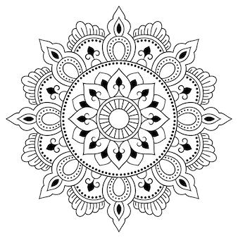 Okrągły wzór w formie mandali
