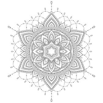 Okrągły wzór w formie mandali.