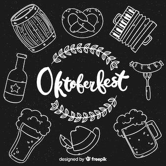 Oktoberfest elementy stylu tablica tło