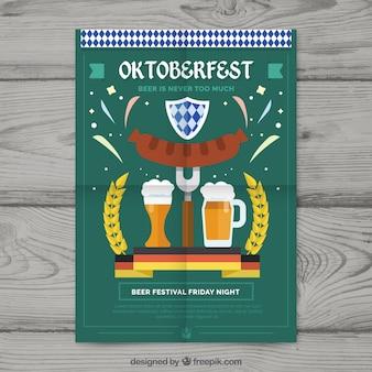 Oktoberfest kompozycja z płaskim wzorem