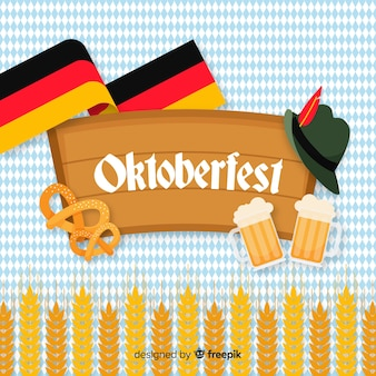 Oktoberfest koncepcja płaska konstrukcja tło