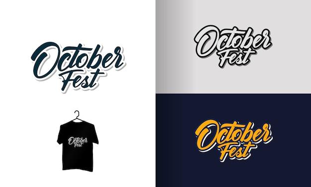 Oktoberfest odręczny napis / koszulka typografii oktoberfest