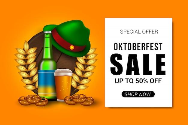 Oktoberfest sprzedaż transparent tło