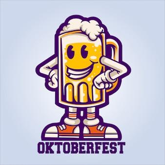 Oktoberfest szczęśliwe piwo