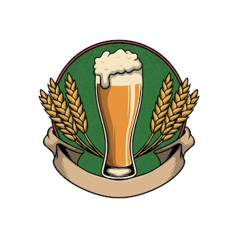 Oktoberfest z szklankami piwa w ilustracji wektorowych ramki
