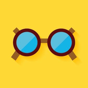 Okulary płaskie akcesoria mody. ilustracja wektorowa płaskich stylizowanych okularów