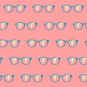 Okulary przeciwsłoneczne bezszwowe tło wzór w kolorze, wzór w stylu vintage