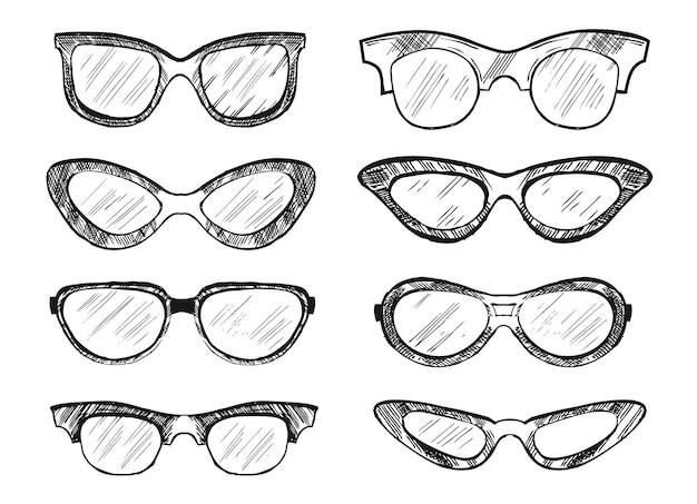 Okulary przeciwsłoneczne ręcznie rysowane ilustracja
