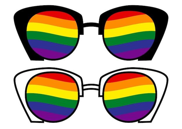 Okulary przeciwsłoneczne z flagą transseksualistów lgbt gay pride społeczność lgbt równość i autoafirmacja