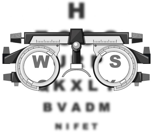 Okulary testowe wzrokowe i płyty do czytania