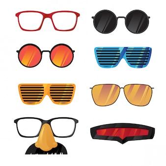 Okulary wektor zestaw filtrów