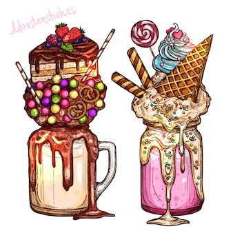 Olbrzymia czekolada mleczna i cukierki