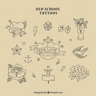 Old school tatuaże kolekcji