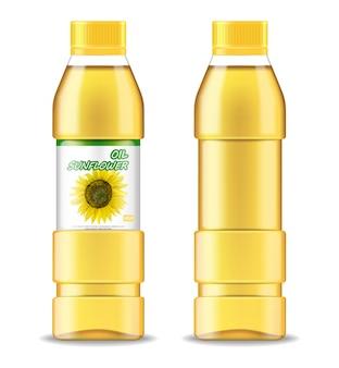 Olej słonecznikowy na białym tle