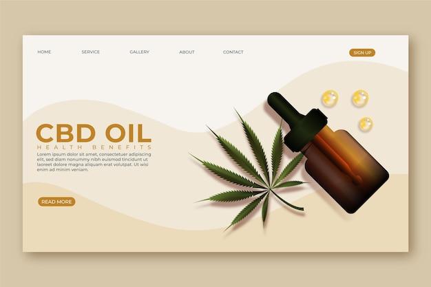 Olej z konopi indyjskich - strona docelowa