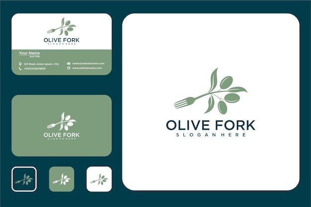 Oliwka z logo widelca i wizytówką