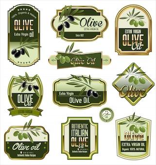 Oliwkowe złote etykiety