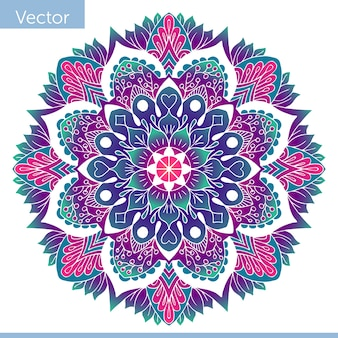 Сolored dekoracyjne mandala. orientalny wzór