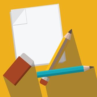 Ołówek i papier wektor