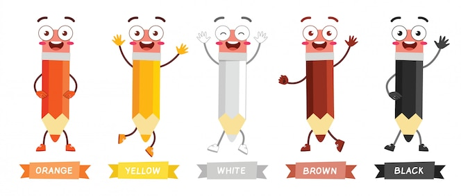 ołówek maskotka szczęśliwy ładny charakter w wielu kolorach