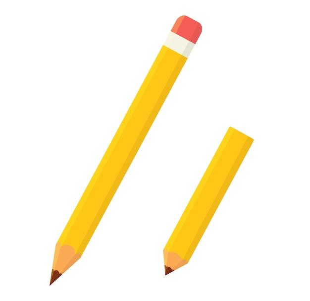 Ołówek na białym tle ikona