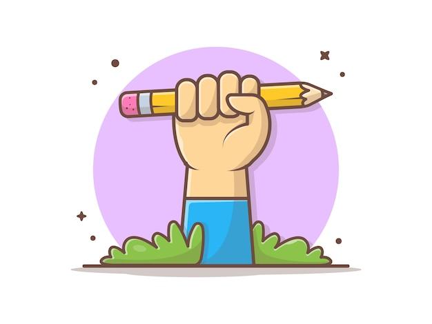 Ołówek trzymaj rękę