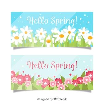 Olśniewający banner wiosna szablon