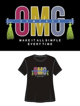 Omg typografia do koszulki z nadrukiem